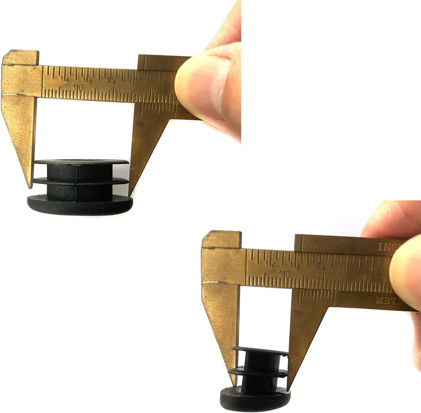 YouU 25 STK Schule Plastik Ovale Stuhl Bein Fu/ßkappe Schlaucheinsatz Schwarz 14x28mm