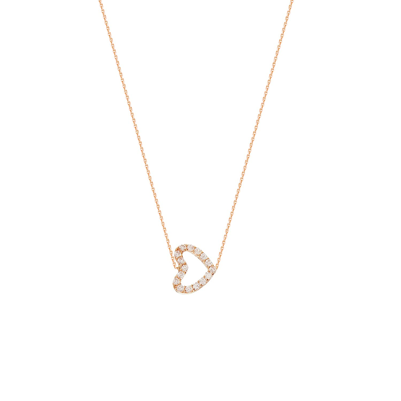 DiamondJewelryNY Silver Pendant E2W Adj.Mini Cz Heart NCK-D//C Cable