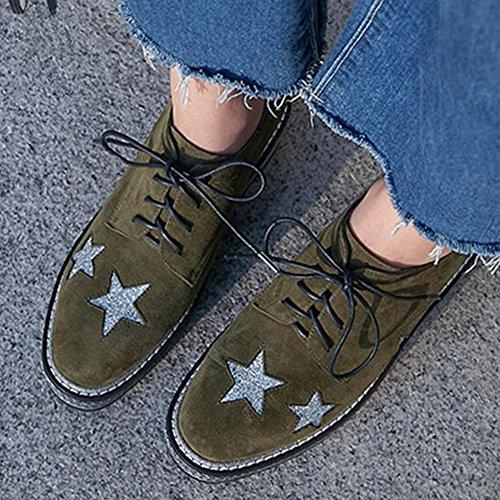 Taille EU35 Chaussures Couleur Round Head Décontractées 2 Lace CJC 1 Daim Fashion UK3 Shoes Chaussures en 7qw1BO