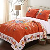 California King Bed Dimensions in Feet Barefoot Bungalow Topanga Quilt Set, 3-Piece King