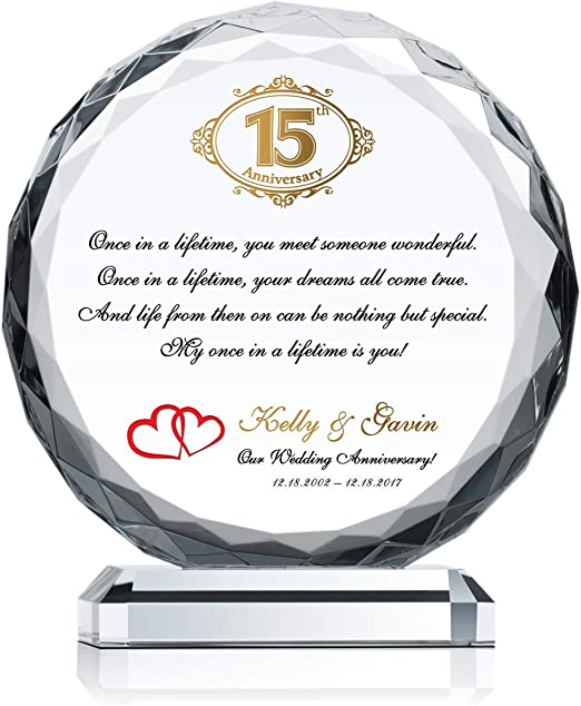 15th Anniversary Gift Ideas For Husband 15th Wedding Anniversary Gift