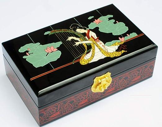 YDJGY Caja Joyero Caja de joyería, Madera, Caja de Almacenamiento ...