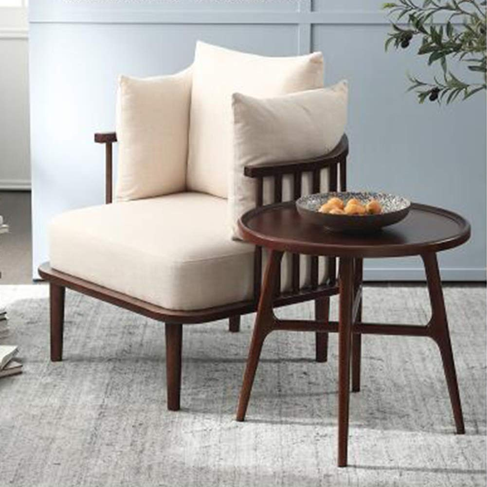 Amazon.com: YQQ-Lazy - Sofá de madera nórdica, sillón ...