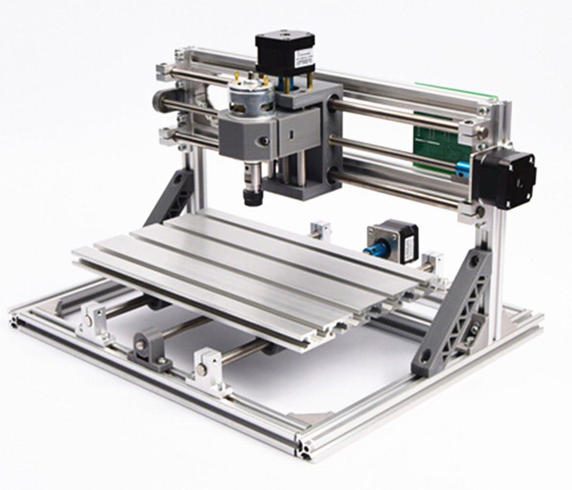 3 Axis DIY 3018 5500mW Laser CNC Router Kit Desktop PCB PVC Wood Milling Engraving Carving Mini Laser Machine+GRBL Control+ER11 Collet+Offline Hand Controller +5500mw laser