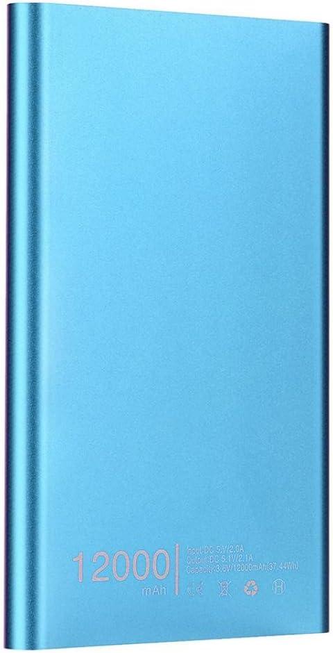 Gusspower Batería externa portátil ultrafina, 12000 mAh, USB, ultra alta capacidad, para Iphone, Ipad, Samsung Galaxy, etc., azul: Amazon.es: Instrumentos musicales