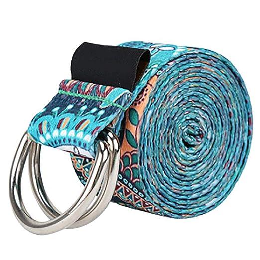 OOFAYHD Cinturón elástico de Yoga, Tela de poliéster ...