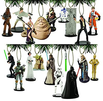 "Disney's ""Star Wars"" Holiday Ornament Set 18 PVC Figure Ornaments Included"
