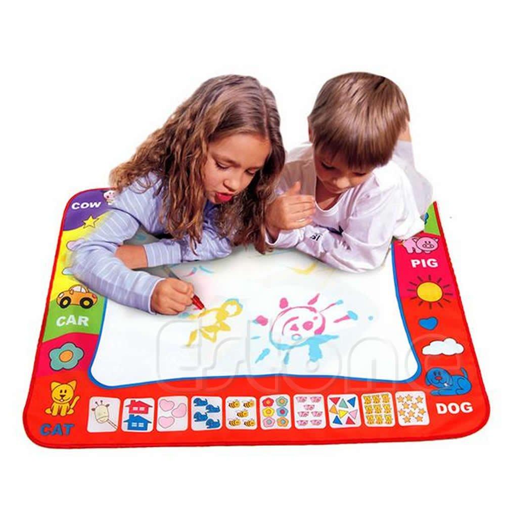 Stilot 8060CM Kid Toy Water Drawing Writing Painting Mat Board 2 Magic Pens Doodle Mat