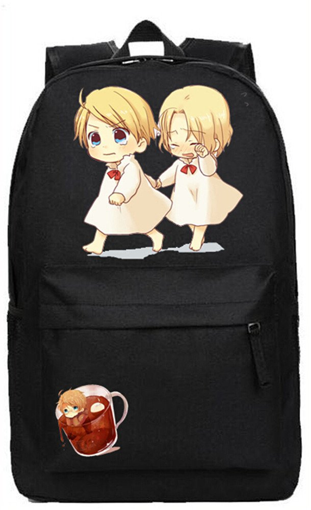 Siawasey Anime Axis PowersヘタリアコスプレブックバッグDaypack Collegeバックパックスクールバッグ   B071GR1FW8
