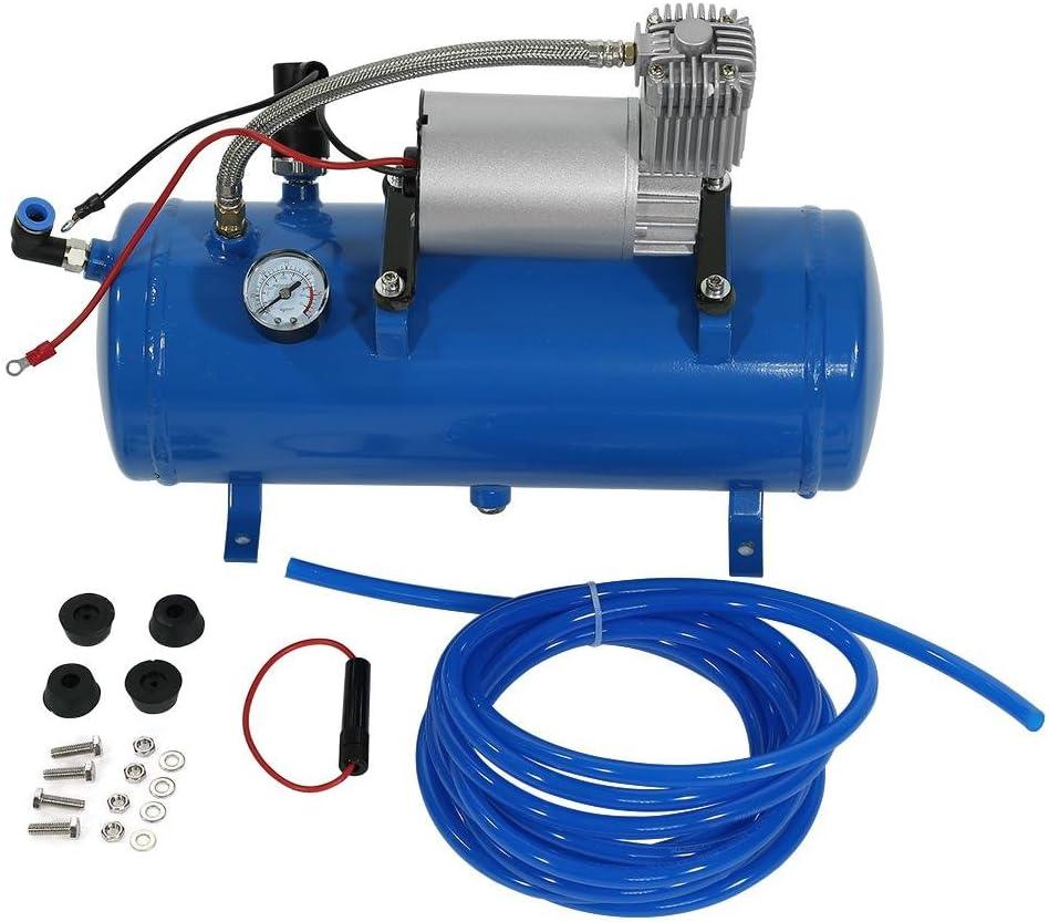 Qiilu Compresor de Aire Portátil 12V 150 PSI Bomba Inflador de Aire