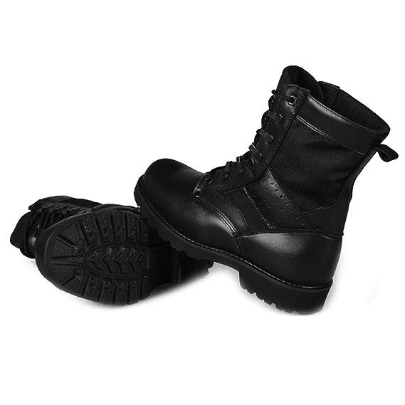 ATEMXI Stivali Militari Scarpe Stringate da Uomo Stivali da