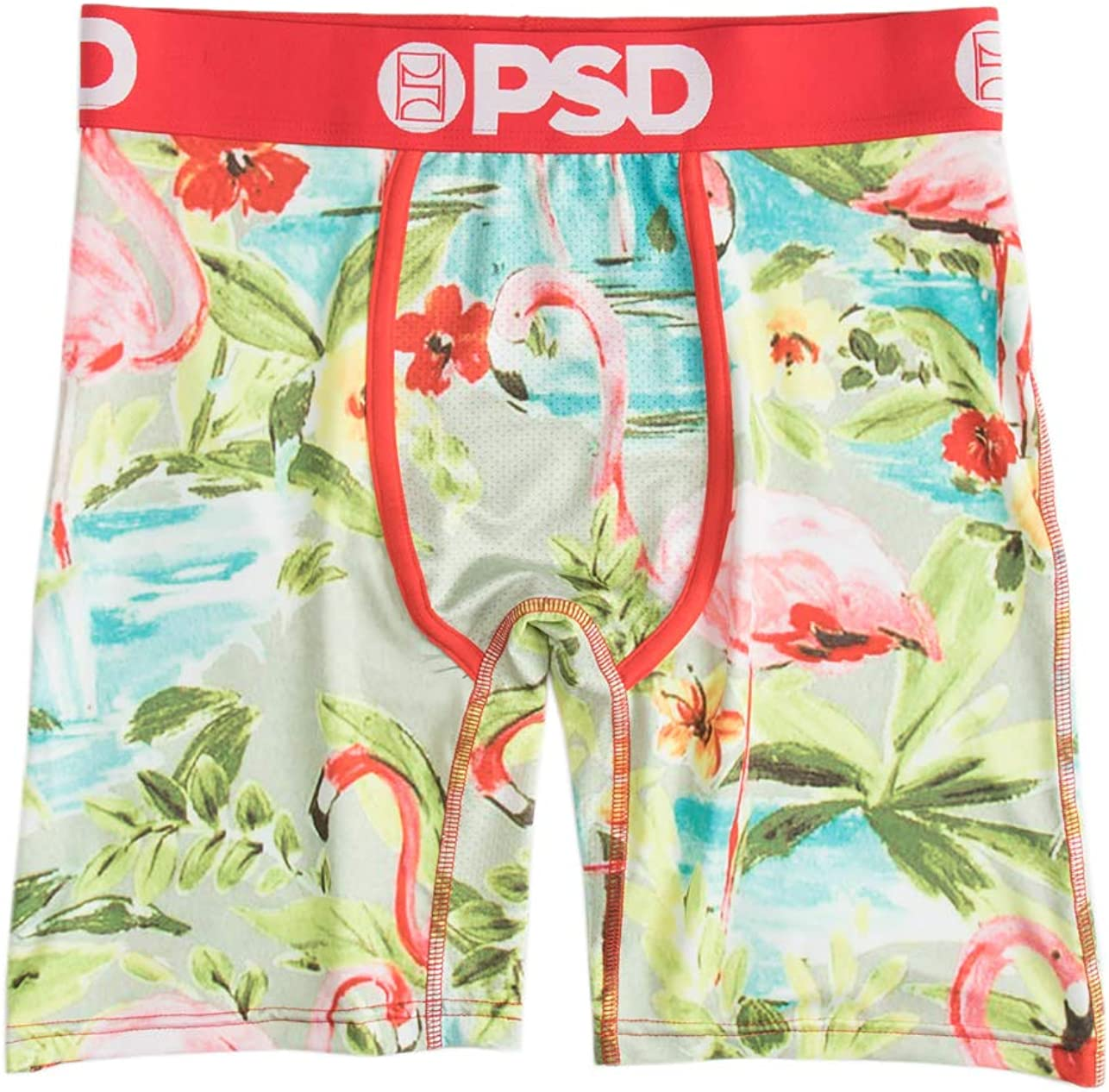 PSD Men's E - Large Flamingo Boxer Brief Underwear