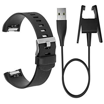 oouu banda y cargador para Fitbit Charge 2, ajustable suave ...
