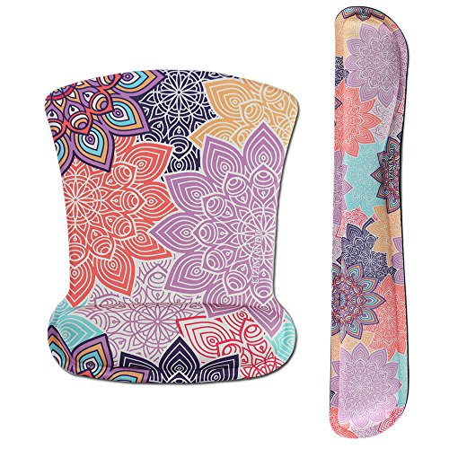 - Cheliz Keyboard Wrist Rest Pad and Mouse Wrist Rest Support Mouse Pad - Durable & Comfortable & Lightweight for Easy Typing & Pain Relief-Ergonomic Support(Colorful Flower)