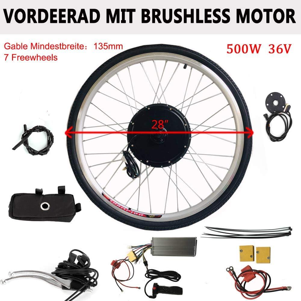OUKANING - Kit de conversión para Bicicleta eléctrica de 28 (500 ...