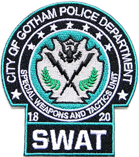 [SWAT CITY OF GOTHAM POLICE DEPARTMENT SPECIAL WEAPONS AND TACTICS UNIT Shield Logo Uniform Jacket T shirt Patch Iron on Embroidered Applique Badge Sign Custom] (Gotham Costumes)