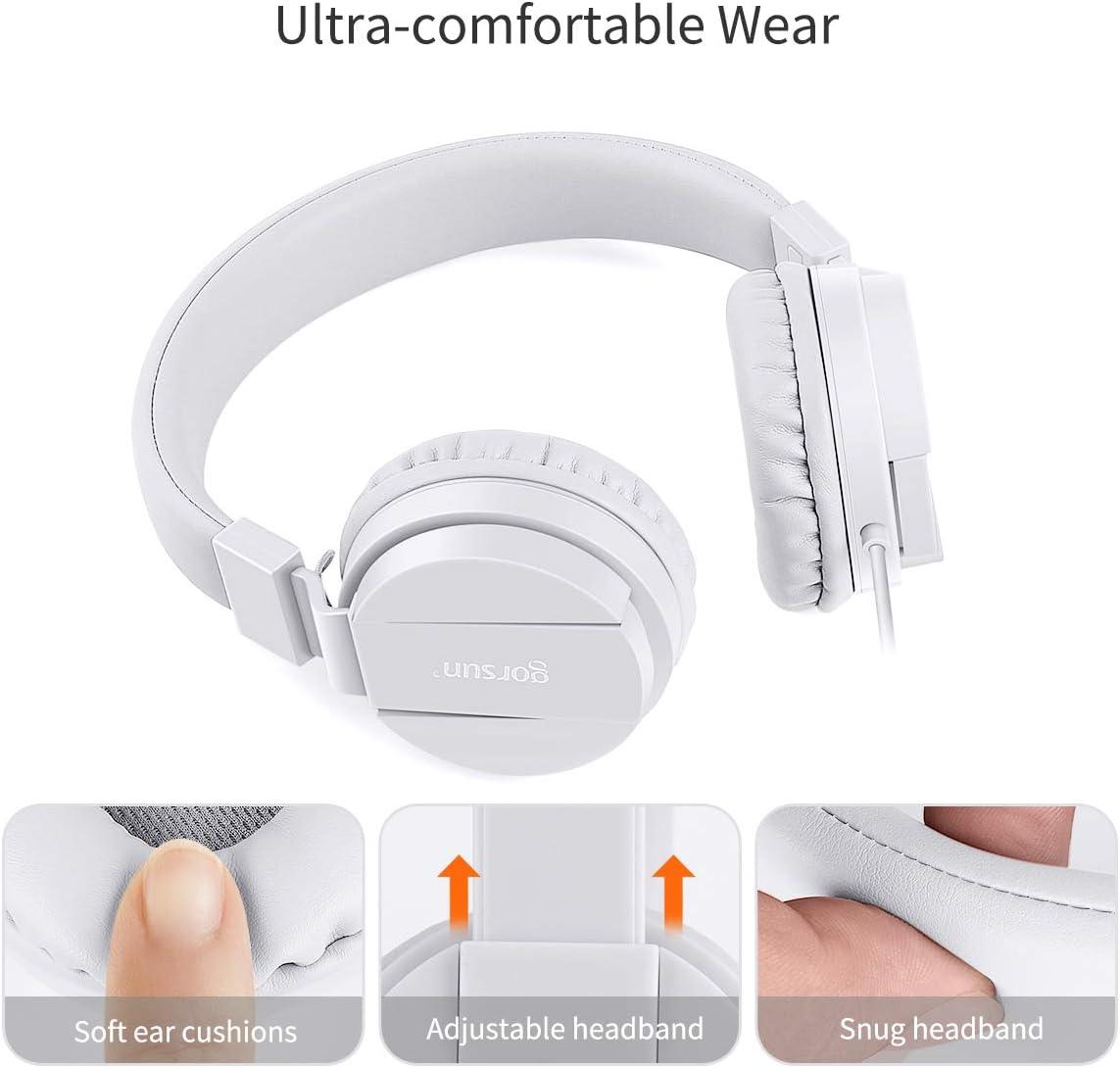 gorsun/®Pliable on Ear Casque Audio Enfant,R/églable L/éger /Écouteurs pour Enfants pour Tt/él/éphonesphones//iPhone//Tablettes//iPad//PC//MP3//MP4-blau