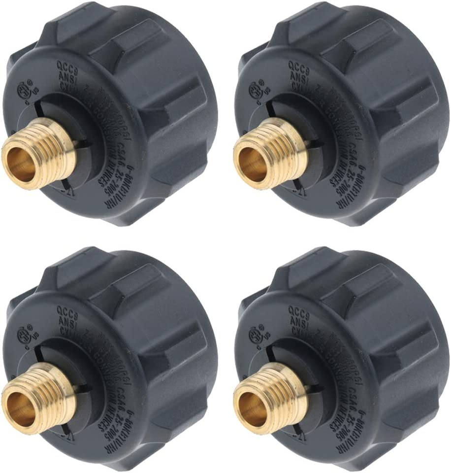 perfk 4pcs Propane Adapter Gas Regulator Valve Fitting with Acme Nut /& 1//4in Male for Regulator Hose Assembly