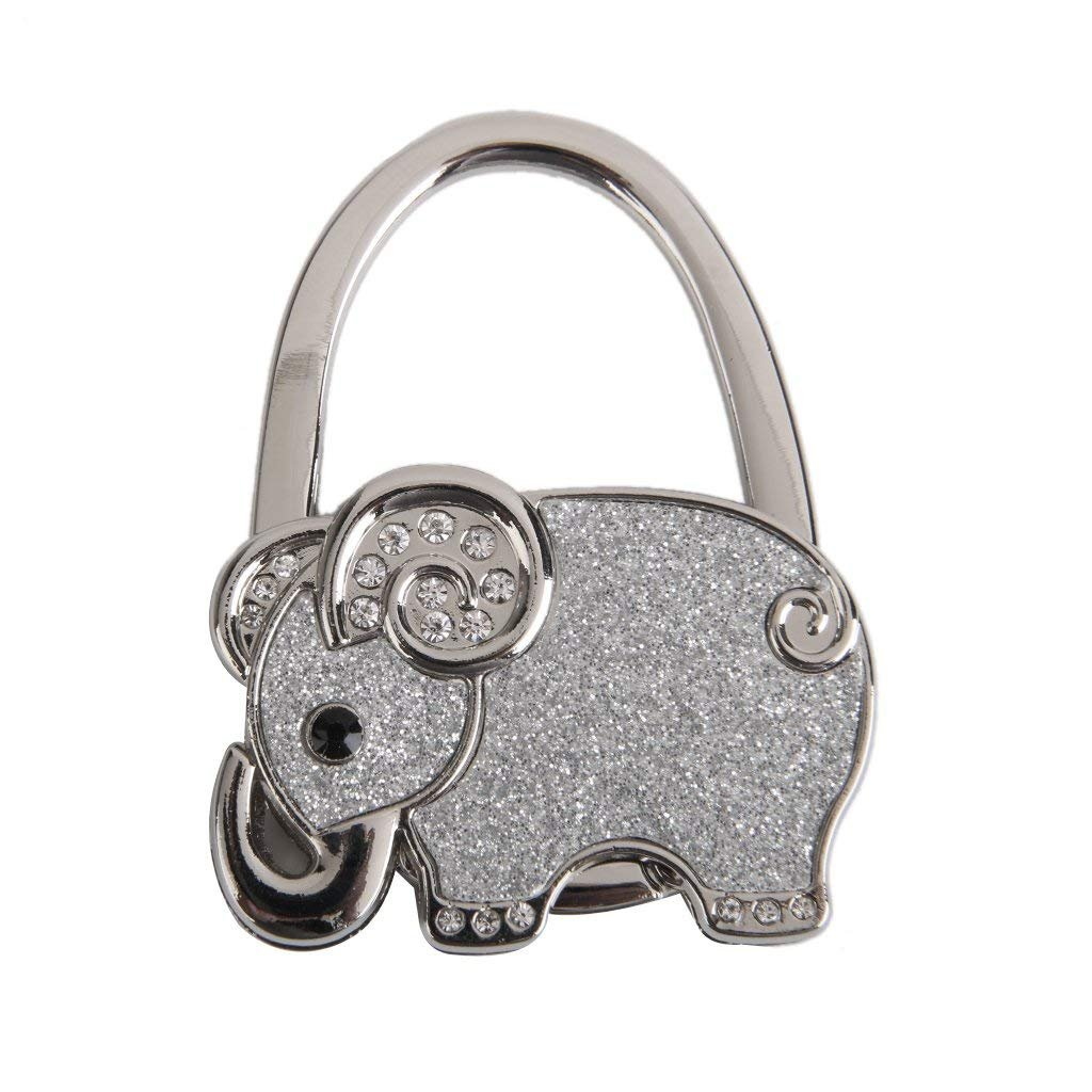 Tabelle faltbare Handtasche Tasche Strass Elefant Kleiderbü gel Handtasche Haken Halter XSM