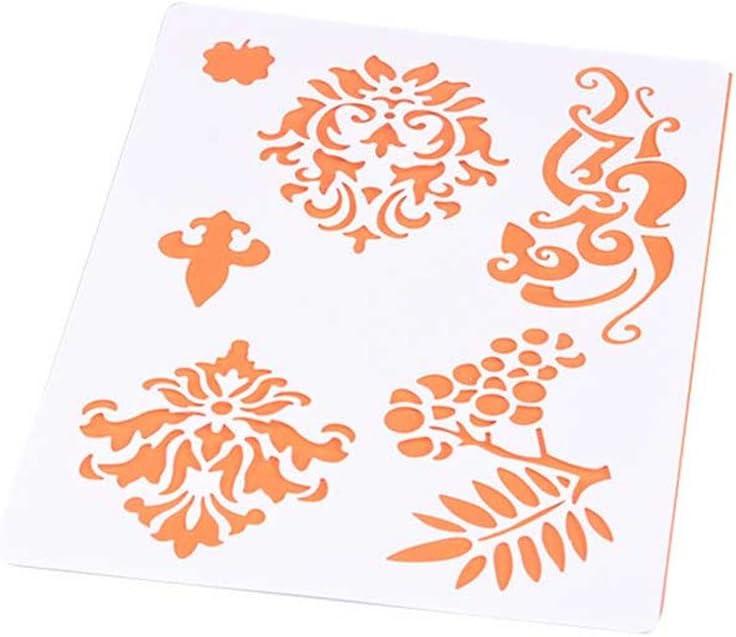 hestio flor encaje DIY álbum adhesiva aerosol pintado plantilla ...