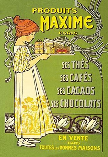 Parisian advertising poster for cacao products such as chocolate and cocoa as well as teas and coffee Poster Print by unknown (18 x 24)