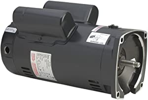 A.O. Smith SQ1302V1 3 HP, 3450 RPM, 56Y Frame, Capacitor Start/Capacitor Run, ODP Enclosure, Square Flange Pool Motor
