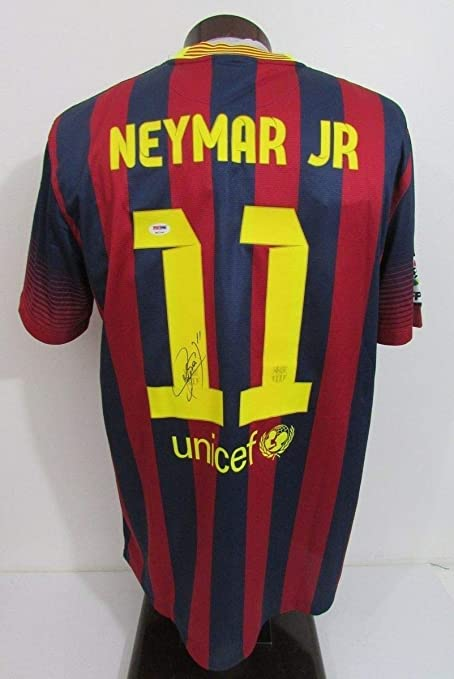 be9173524d9 Neymar Jr Fc Barcelona Autographed Signed Autograph Nike Jersey Loa Sports  Memorabilia PSA DNA 6A21847 at Amazon s Sports Collectibles Store