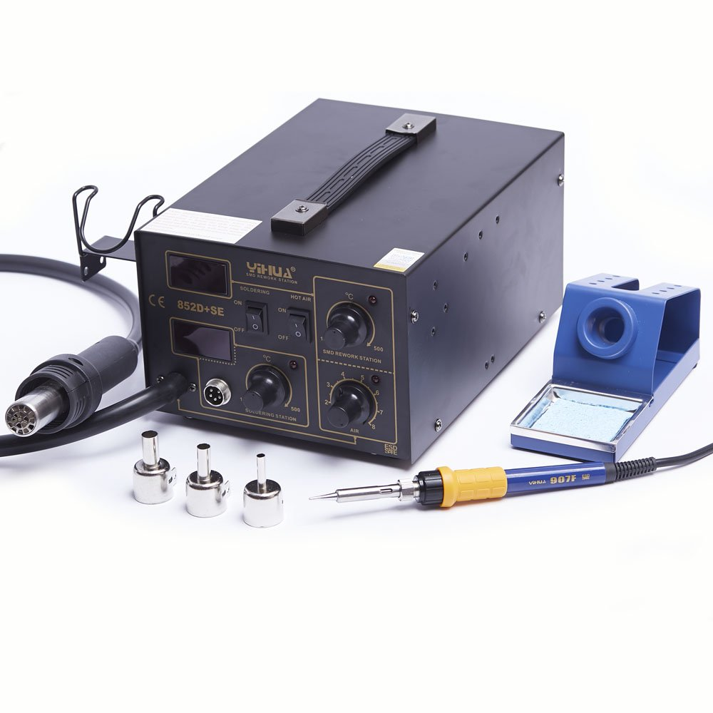 Estación soldadura soldador 75 W WEP 852d + Se Compresor 500 grados.PCB 852d + Sew: Amazon.es: Industria, empresas y ciencia