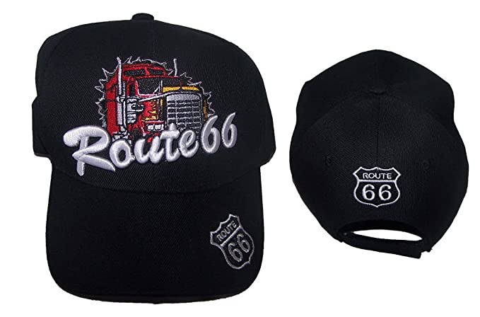 Route 66 Red Truck Baseball Caps Hats Embroidered (7508AZ Z) at ... bf35448c1342