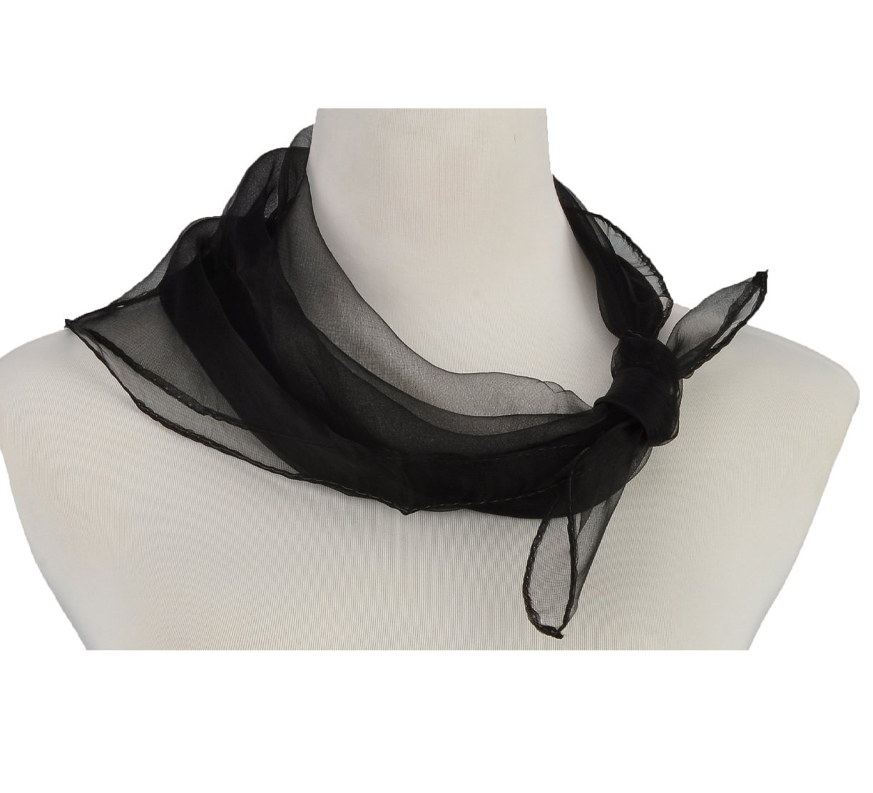 HERRICO Brightly Coloured Flowing Fun Small Scarf Decorate Extremely Light Black