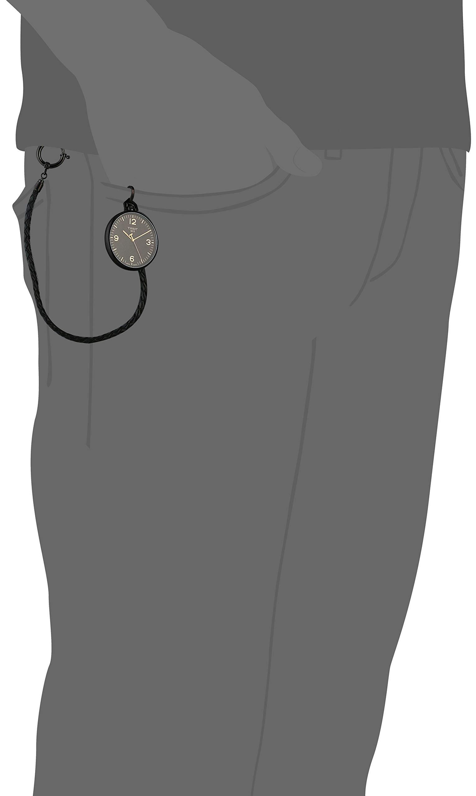 Tissot Unisex Lepine Swiss Quartz Alluminum Pocket Watch (Model: T8634099905700)