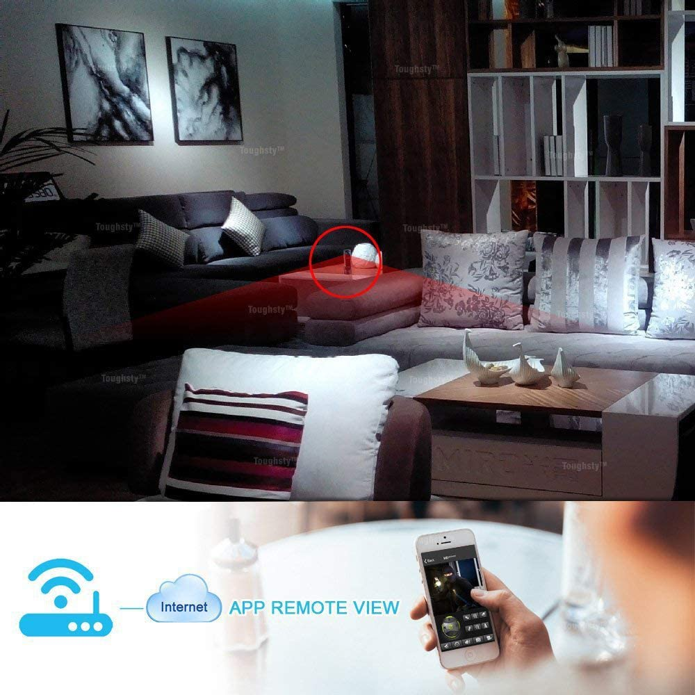 FJROnline WiFi inal/ámbrico Mini c/ámara c/ámara Oculta HD port/átil c/ámara inal/ámbrica grabadora vigilancia de Seguridad para el hogar A