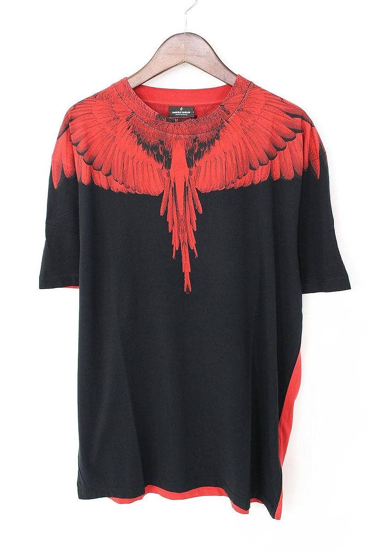 (マルセロバーロン) MARCELO BURLON 【18SS】DOUBLEWINGバイカラープリントTシャツ(S/ブラック×レッド) B07FFTDYSV  -