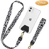 takyu Handykette, Universal Schlüsselband Halsband & Schlaufe zum Umhängen Kompatibel mit iPhone/Samsung/Huawei/Xiaomi-Weiß, 2er