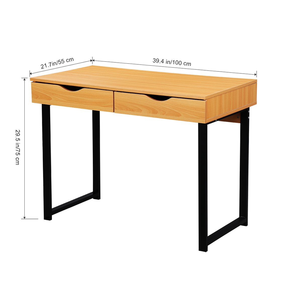 word 39office desks workstations39and. Amazon.com: LANGRIA 39.4\u0027\u0027 Computer Desk Writing Workstation Wood With Drawers For Home Office, Pear Color: Office Products Word 39office Desks Workstations39and
