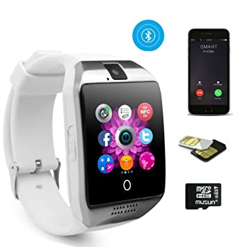 Reloj inteligente con pantalla táctil, impermeable para empresas con soporte para cámara Bluetooth SIM, con tarjeta TF para Android, Samsung, LG, Google, ...