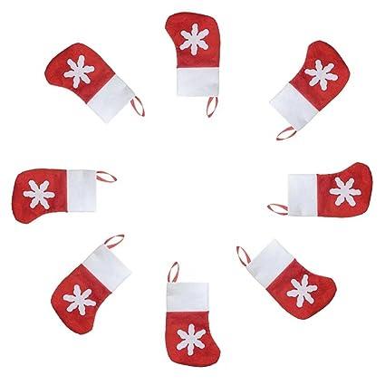12 pcs Navidad bandeja de cubertería pequeña calcetines Navidad decoración Santa cubiertos titulares calcetines llanos Decor