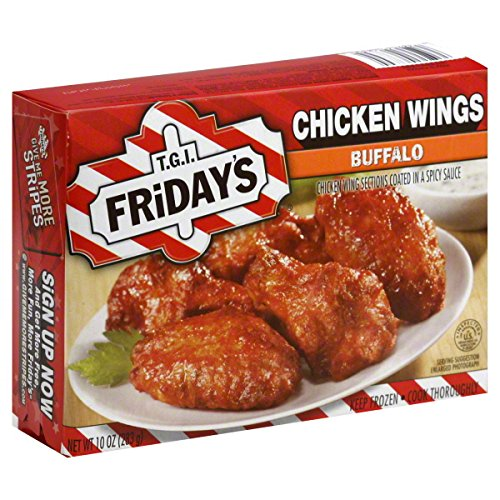 TGI FRIDAYS APPETIZER CHICKEN WINGS BUFFALO STYLE 10 OZ PACK OF 3 (Best Food At Tgi Fridays)