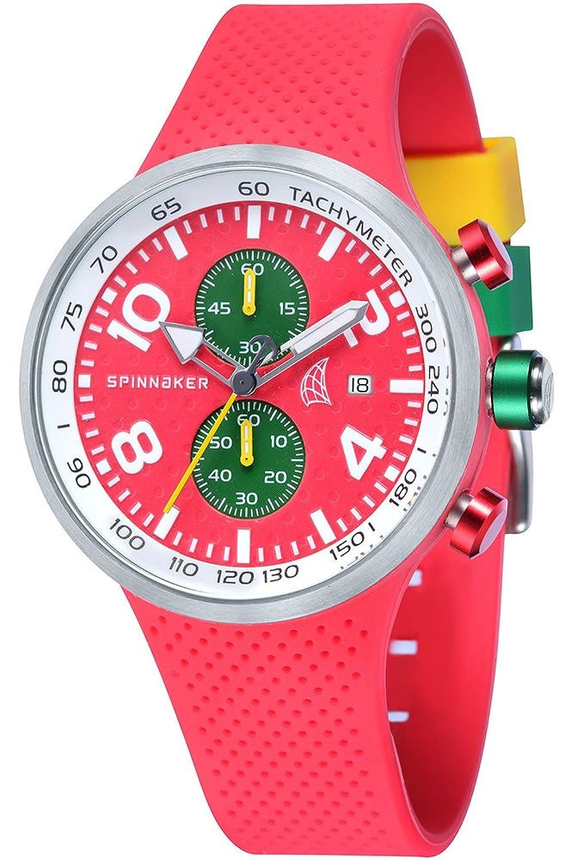 Spinnaker – sp-5029 – 03 – Dynamic – Armbanduhr – Quarz Chronograph – Zifferblatt Rot Armband Silikon Rot