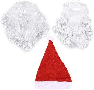 Dabuty Onlinr, S.L. Pack Sombrero de Papa Noel con Barba y Peluca Incluidas para Navidad. Disfraz Papa Noel Navidad Atuendo Santa Claus Costume. Pack Papa Noel.: Amazon.es: Hogar