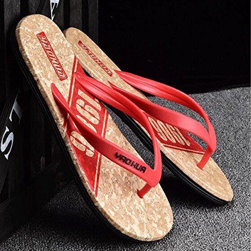 Eu42 Zapatillas uk8 Plástico Sandalias Rojo 5 Antideslizante Tamaño Verano Qidi Zapatos Azul Pellizcar Azul Negro Playa color Verde Temporada De TqxOUf