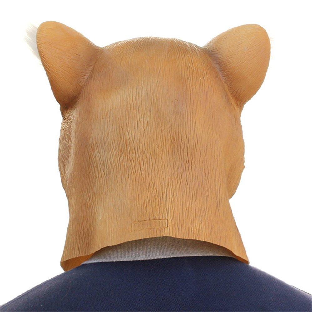 KTYX Halloween Party Party Party Geburtstagsparty Ball Requisiten Eichhörnchen Tier Kopfbedeckung Latex Maske Maske 9f69b1