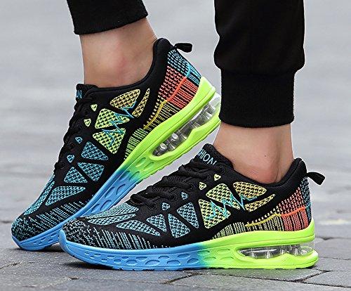 No.66 Donna Da Donna Mens Cuscino Daria Sportivo Flyknit Scarpe Da Corsa Paio Sneakers Blu