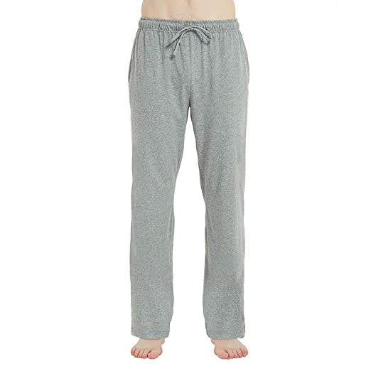 b39909c9c U2SKIIN Mens Cotton Super Soft Lightweight Lounge Pajama Pants (Light Grey  Mel