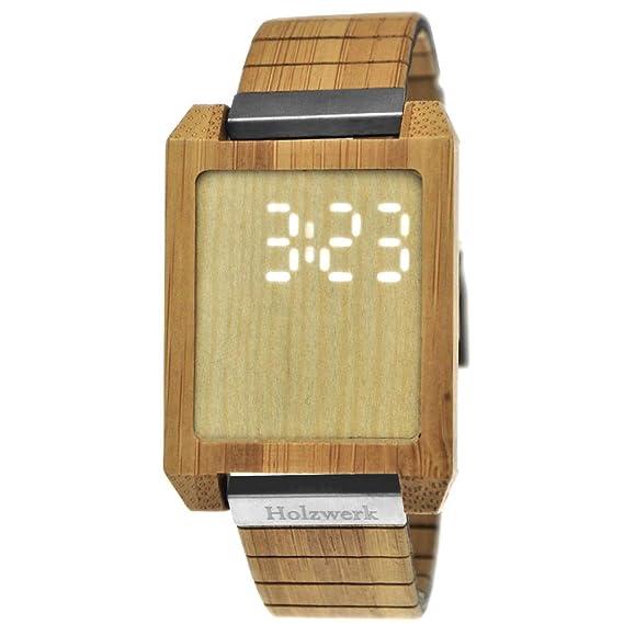 Hecha a Mano de Madera de Alemania Designer Matrix – Reloj de Hombre con Certificado de