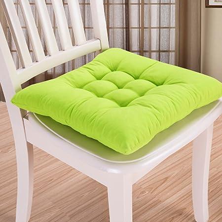 Almohadilla para asiento, 9 colores, lavable, cojín para silla de comedor, jardín, cocina, coche Tamaño libre Fruit Green: Amazon.es: Hogar