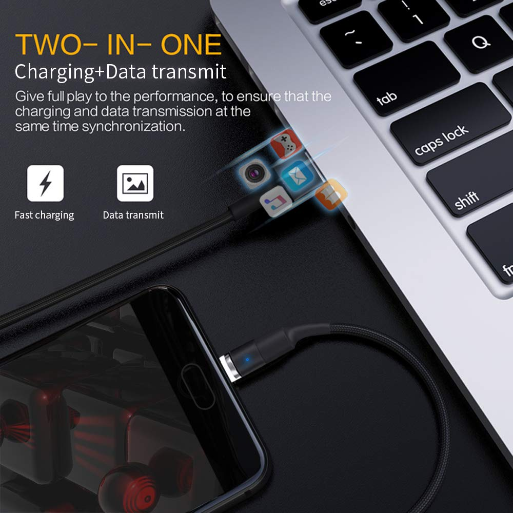 Amazon.com: GARAS - Cable cargador de teléfono magnético 3 ...