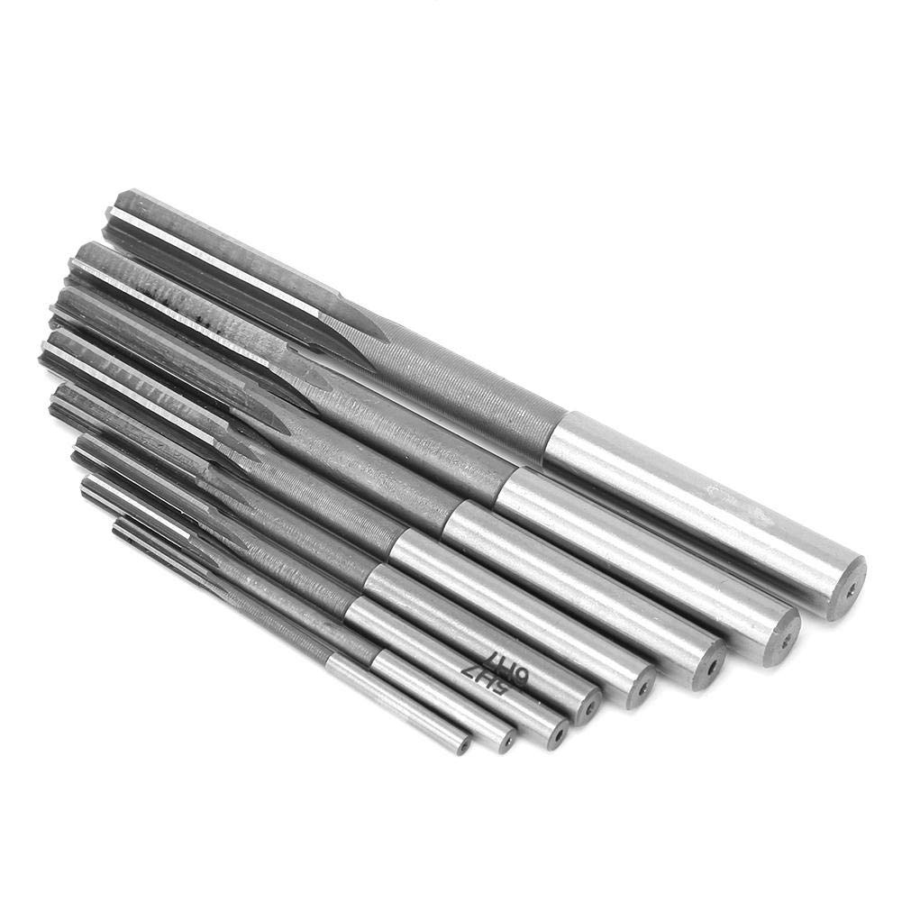 8Pcs Chucking Reamer Set Straight Shank High-Speed Steel H7 Reamer High Accuracy Reaming Tool Accessories 3//4//5//6//7//8//9//10mm