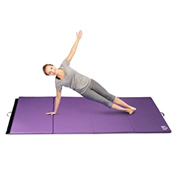 Homcom Tapis de Gymnastique Yoga Pilates Fitness Pliable Portable Grand  Confort 245L x 120l x 5H
