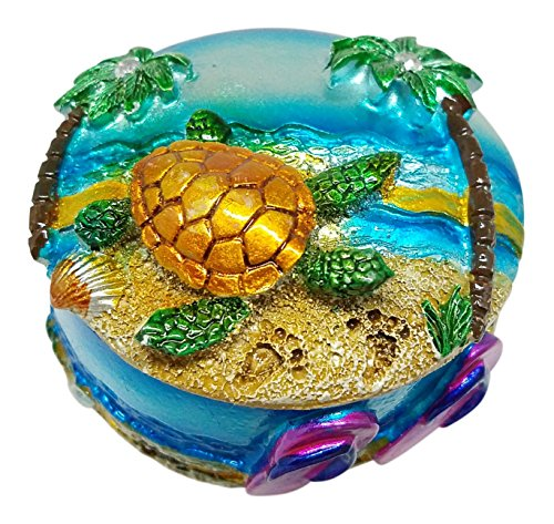 Tidal Expressions Turtle Trinket Box with Lid - Small and - Flip Box Jewelry Flop